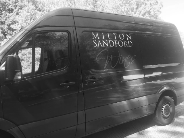 Milton Sandford Wines' van
